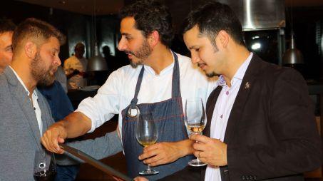 Rodrigo junto a Lucas Bustos, chef de Espacio Trapiche