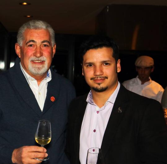 Rodrigo junto a Jorge Ripa del Club Gourmet Mendoza