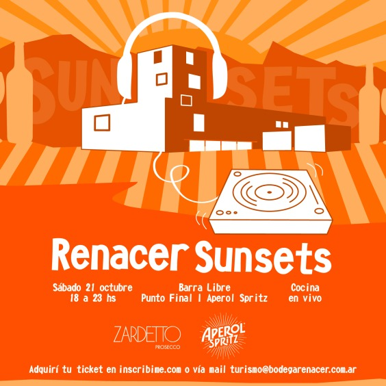 flyer SUNSET EN BODEGA RENACER