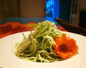 Espaguetis de zucchinis