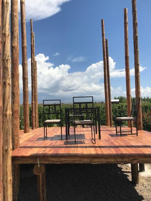 El deck donde serán las cenas
