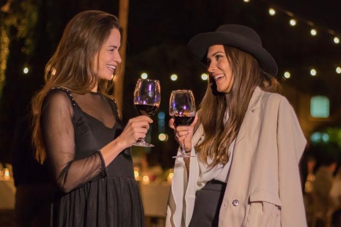 La modelo Natalia Botti junto a CAndela Yanigro novia de Nicolás Francella