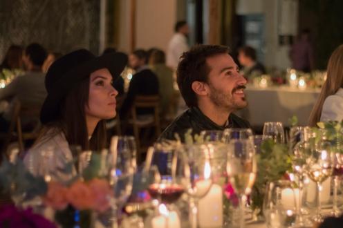 Nicolás Francella junto a su novia en la comida en Escorihuela Gascón