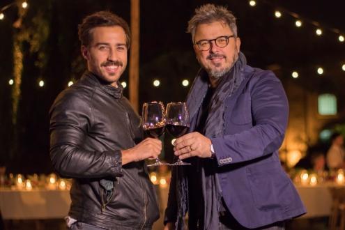 Nicolás Francella y el chef Donato de Santis