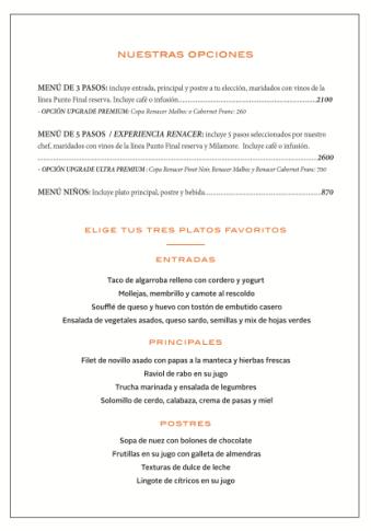 Carta restaurante renacer primavera 2019 1