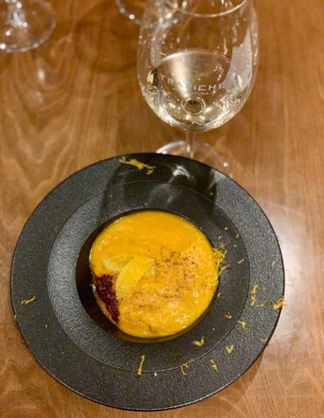 Quínoa cremosa + naranja
